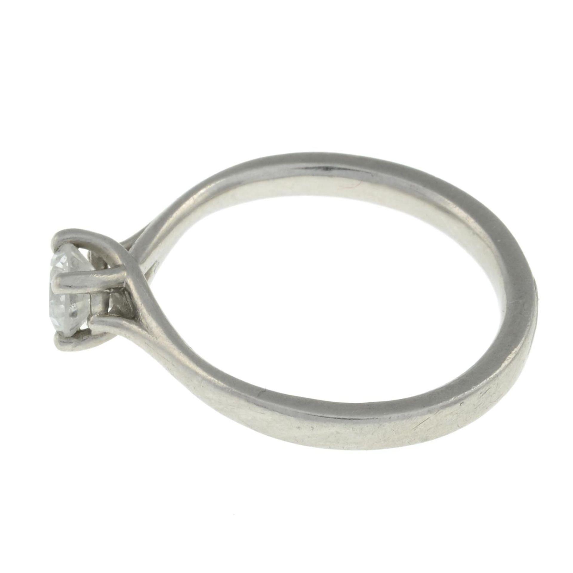 A platinum brilliant-cut diamond single-stone ring.Estimated diamond weight 0.4ct. - Image 2 of 3