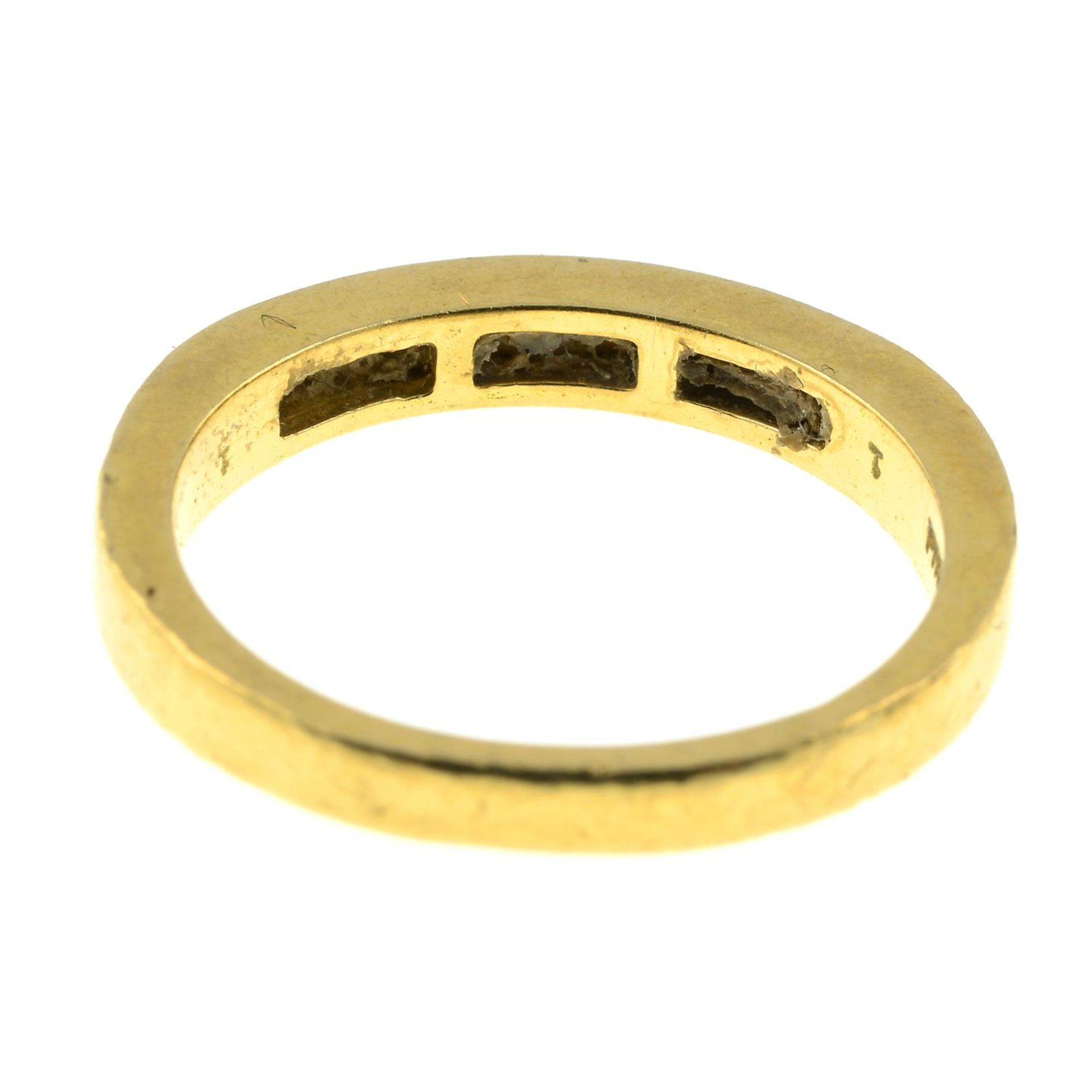 An 18ct gold brilliant-cut diamond half eternity ring.Estimated total diamond weight - Image 2 of 2