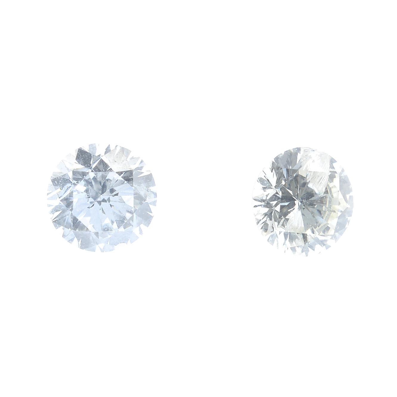 A selection of brilliant, old and single-cut diamonds, total weight 3.96cts.
