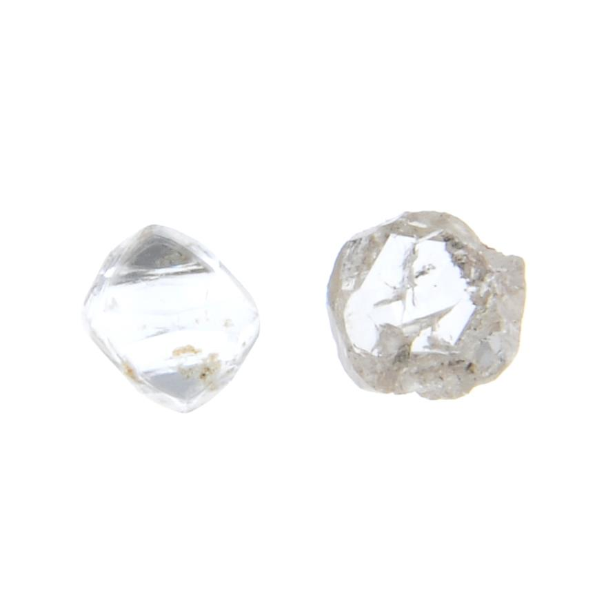 Two loose diamond crystals,