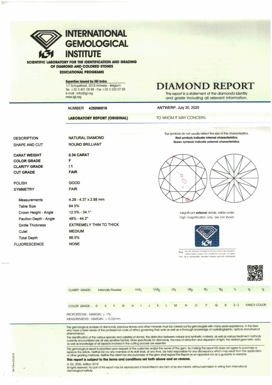 A brilliant-cut diamond. - Image 3 of 3