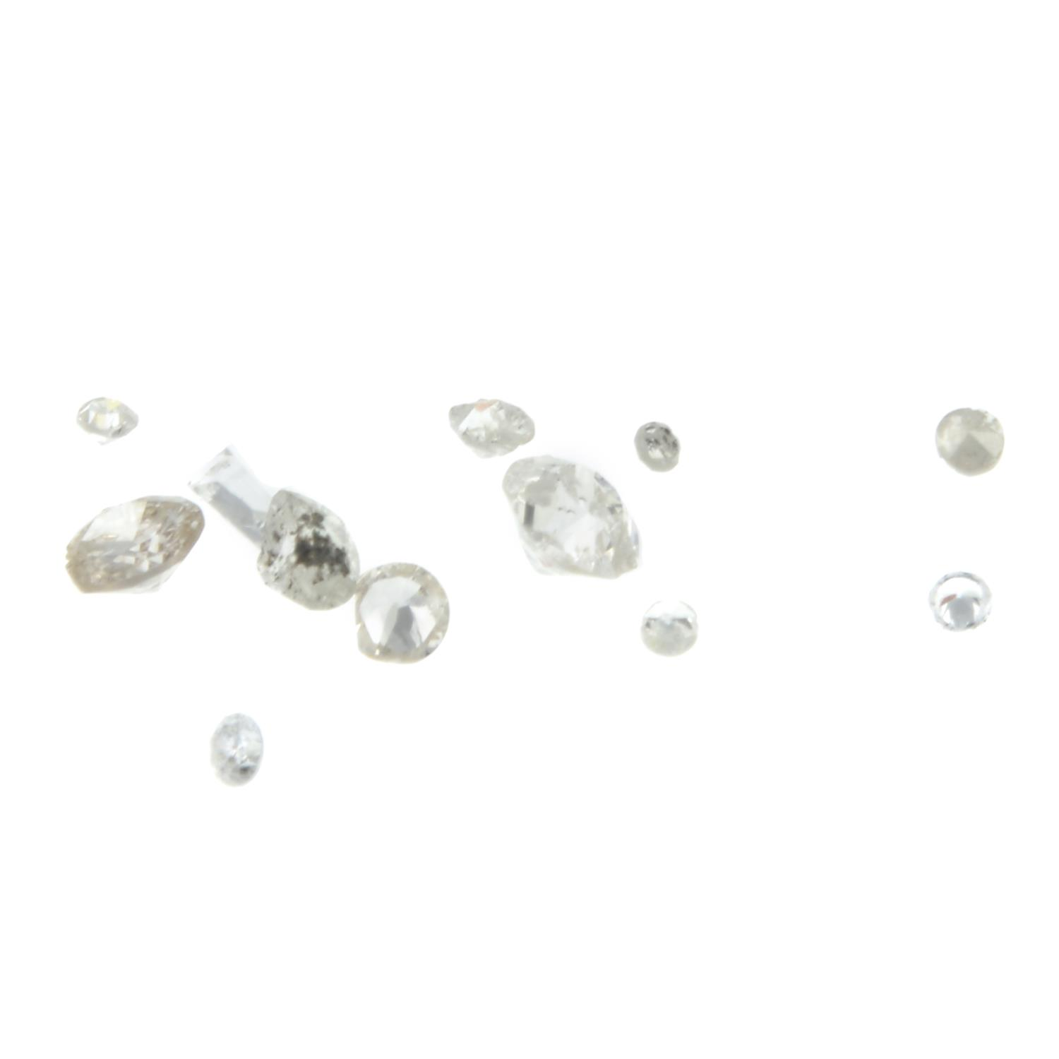 A selection of vari-shape diamonds weighing 3.10ct PLEASE NOTE THIS LOT WILL CARRY VAT AT 20%