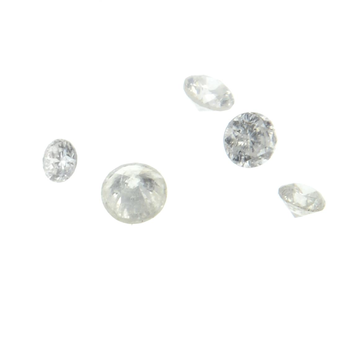 A selection of vari-shape diamonds weighing 13.17ct PLEASE NOTE THIS LOT WILL CARRY VAT AT 20%