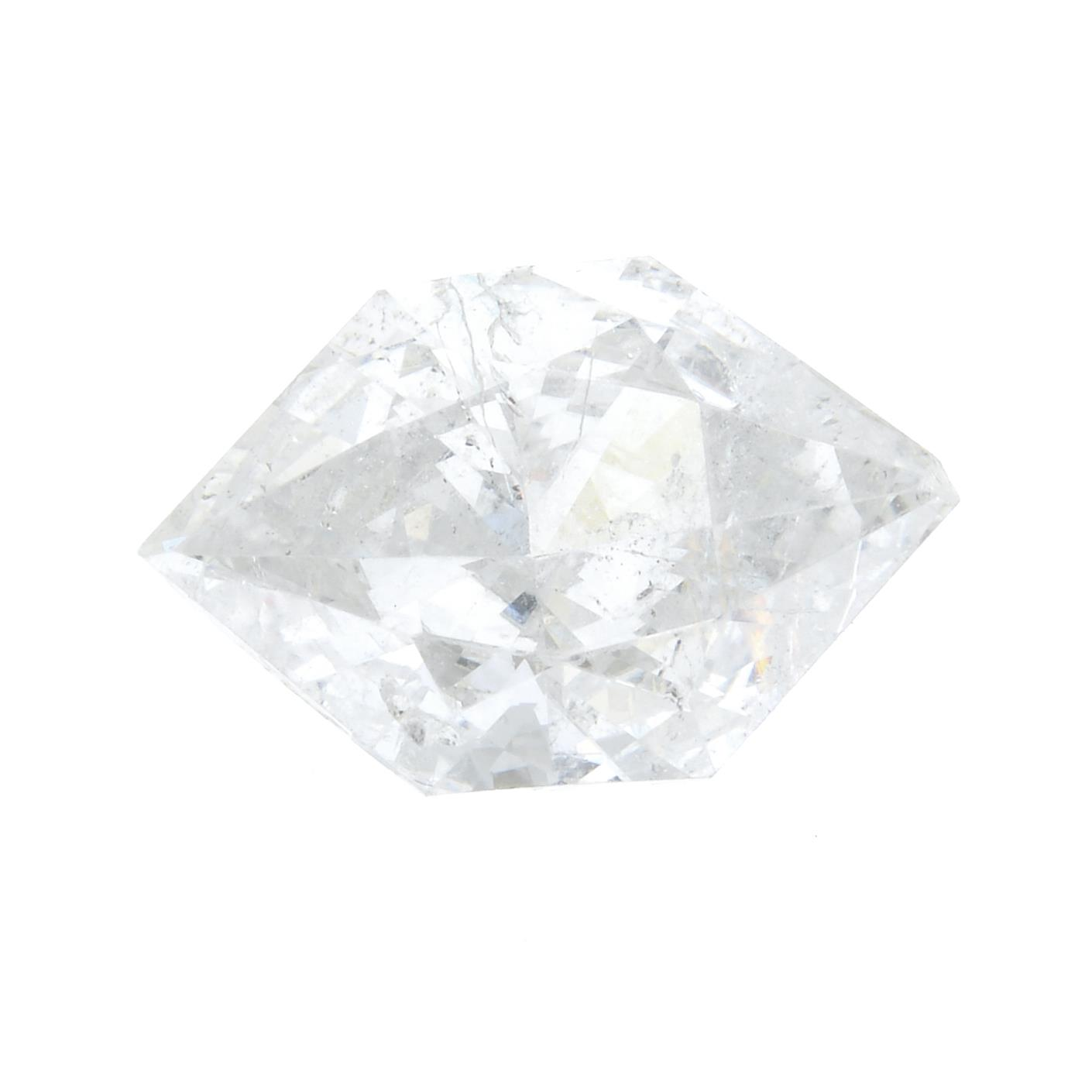 A fancy-shape diamond, weighing 0.92cts.