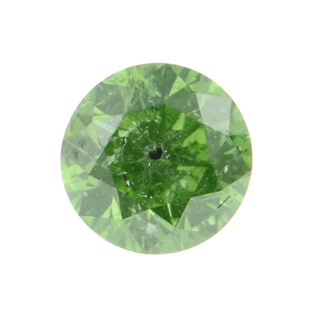 A fancy green diamond weighing 0.45ct.