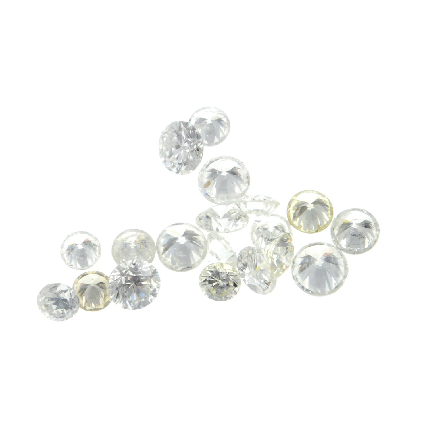 A selection of brilliant cut diamonds weighing 3.65ct PLEASE NOTE THIS LOT WILL CARRY VAT AT - Image 2 of 2
