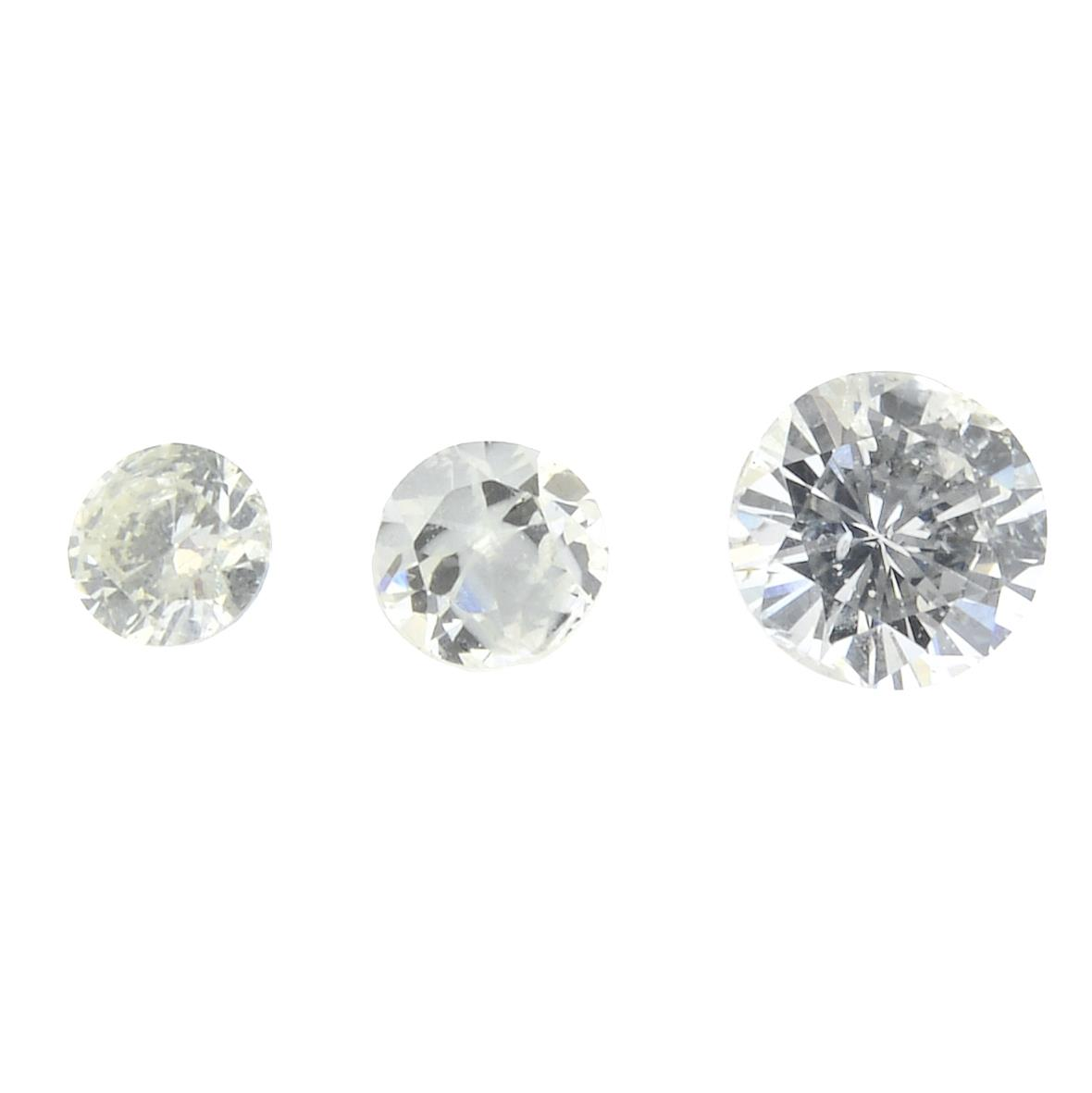 A selection of diamonds.