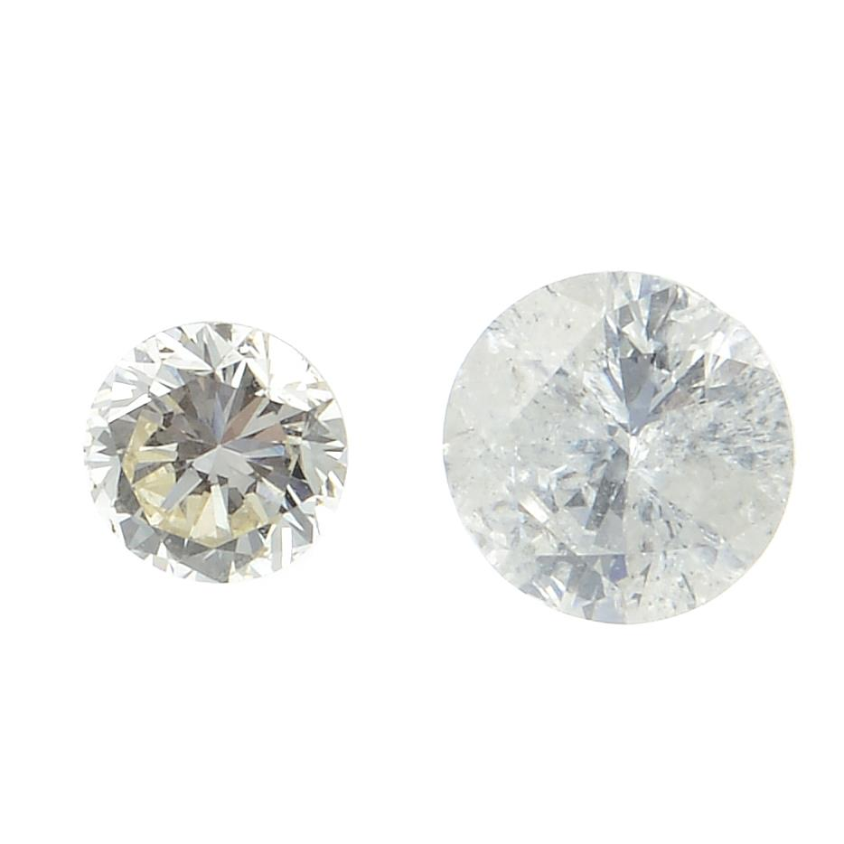 A selection of brilliant cut diamonds weighing 3.65ct PLEASE NOTE THIS LOT WILL CARRY VAT AT