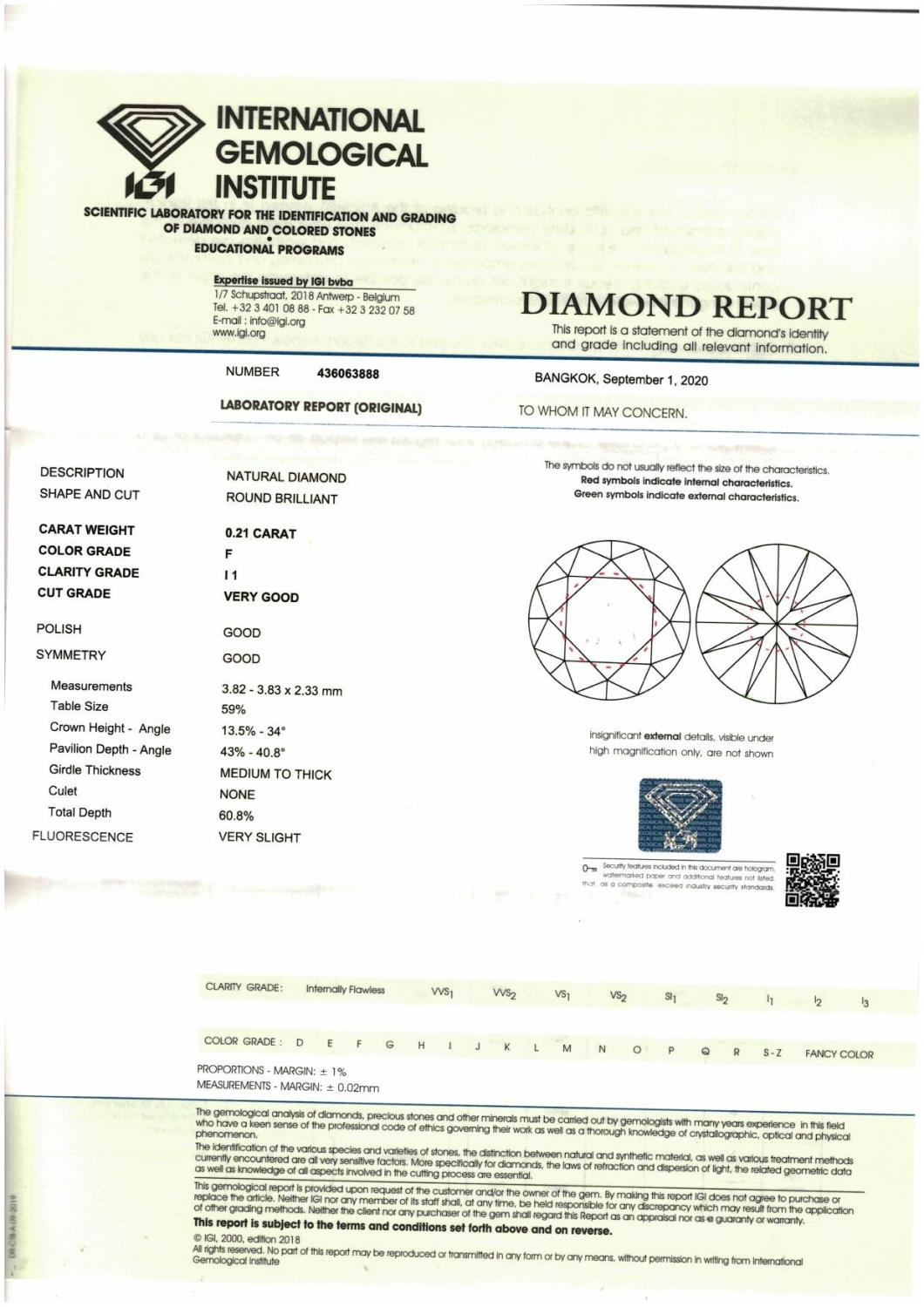 A brilliant cut diamond weighing 0.21ct. - Image 3 of 3