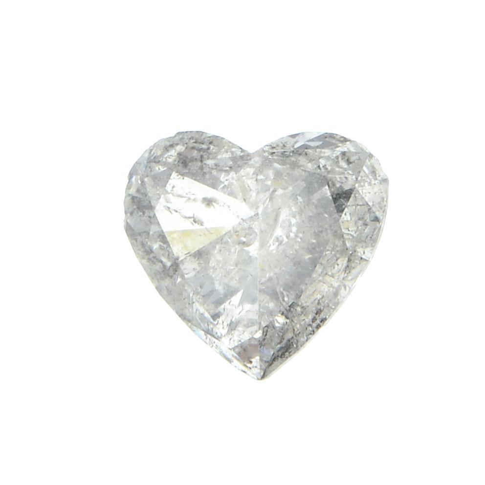 A heart shape diamond weighing 0.54ct.