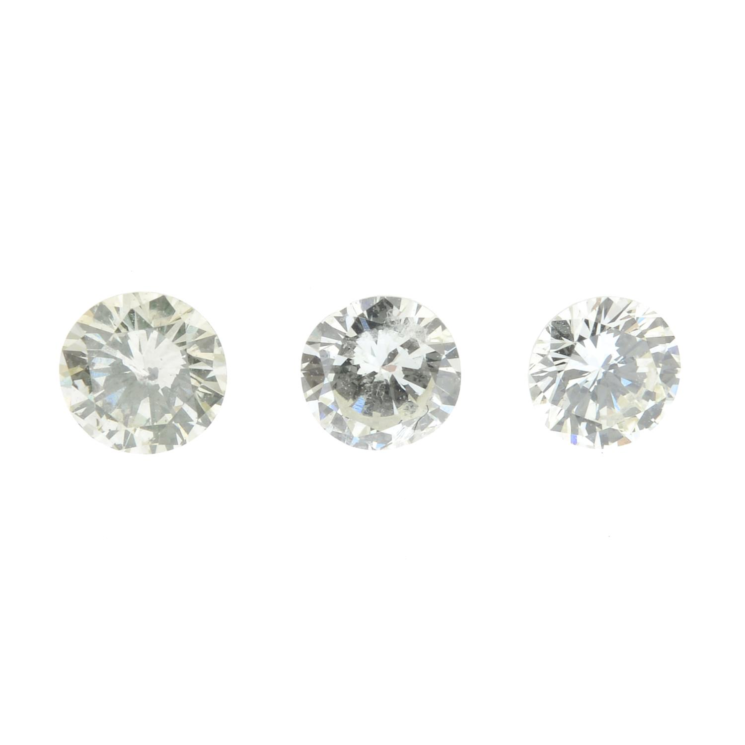 A selection of brilliant-cut diamonds, total weight 1.39cts.
