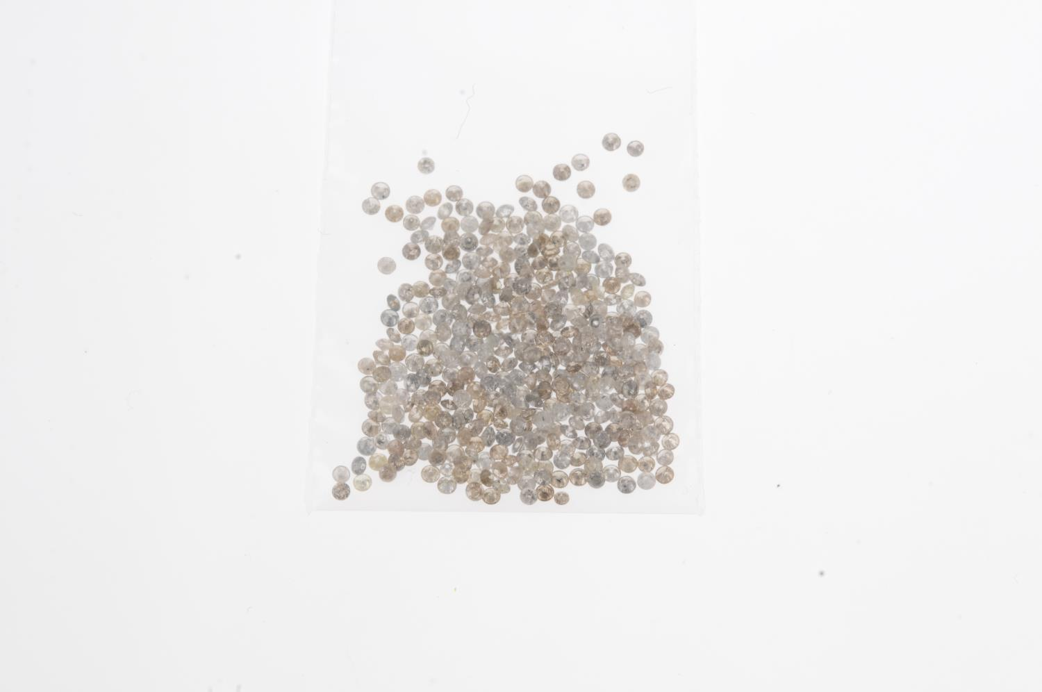 A small selection of round brilliant-cut melee and 'brown' melee diamonds. - Image 2 of 2