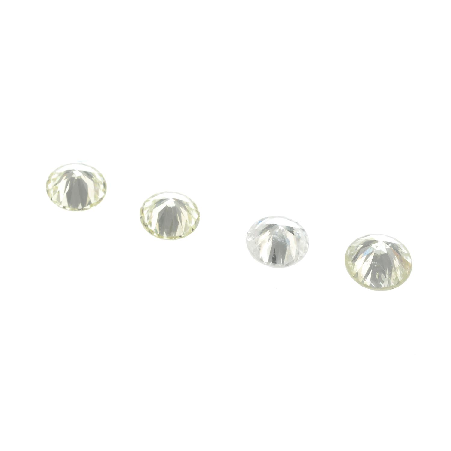Five brilliant-cut diamonds, total weight 0.99ct. - Image 2 of 2