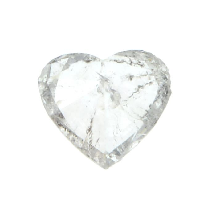 A heart shape diamond weighing 0.54ct. - Image 2 of 2