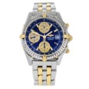 BREITLING - a gentleman's Chronomat Vitesse chronograph bracelet watch.