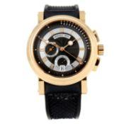 BREGUET - a gentleman's Marine chronograph wrist watch.