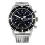 BREITLING - a gentleman's SuperOcean Heritage Chrono 46 chronograph bracelet watch.