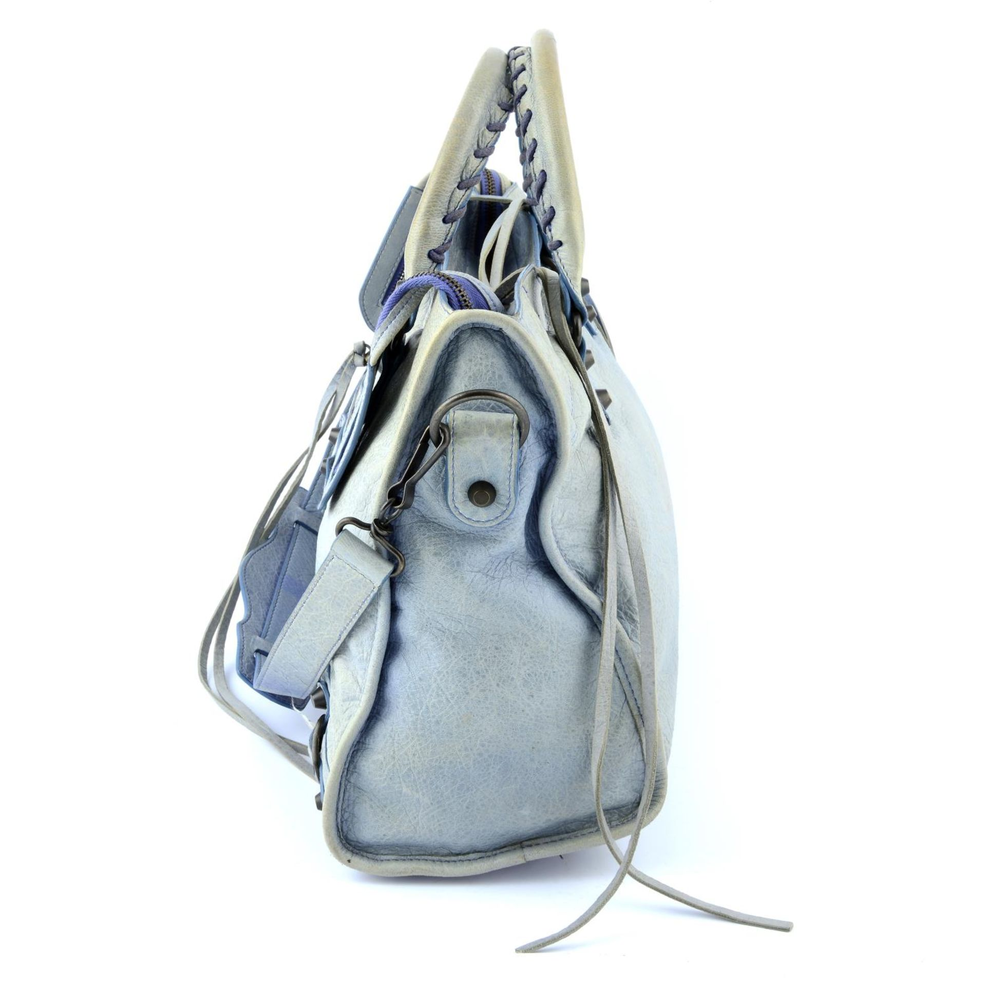 BALENCIAGA - a light blue Classic City handbag. - Image 4 of 6