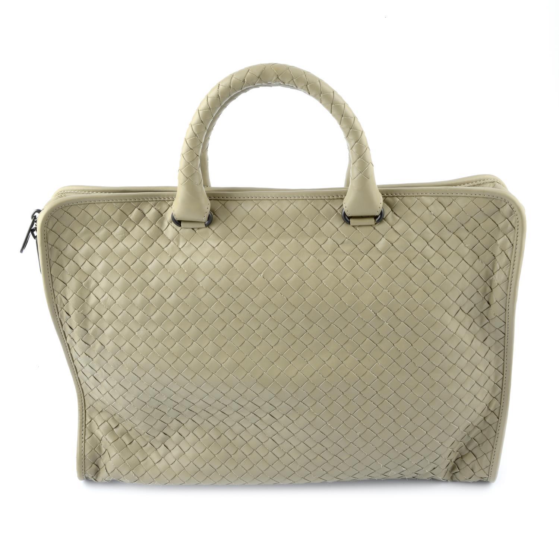 BOTTEGA VENETA - an Intrecciato briefcase.