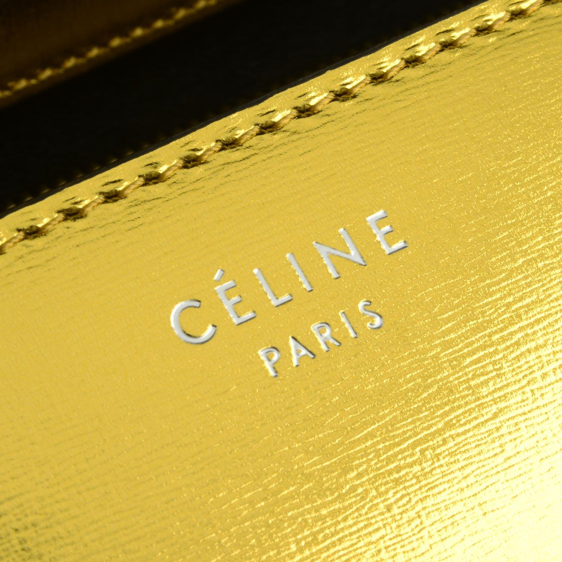 CÉLINE - a metallic gold Box handbag. - Image 7 of 9