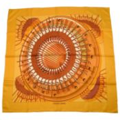 HERMÈS - an Alternateur silk scarf.