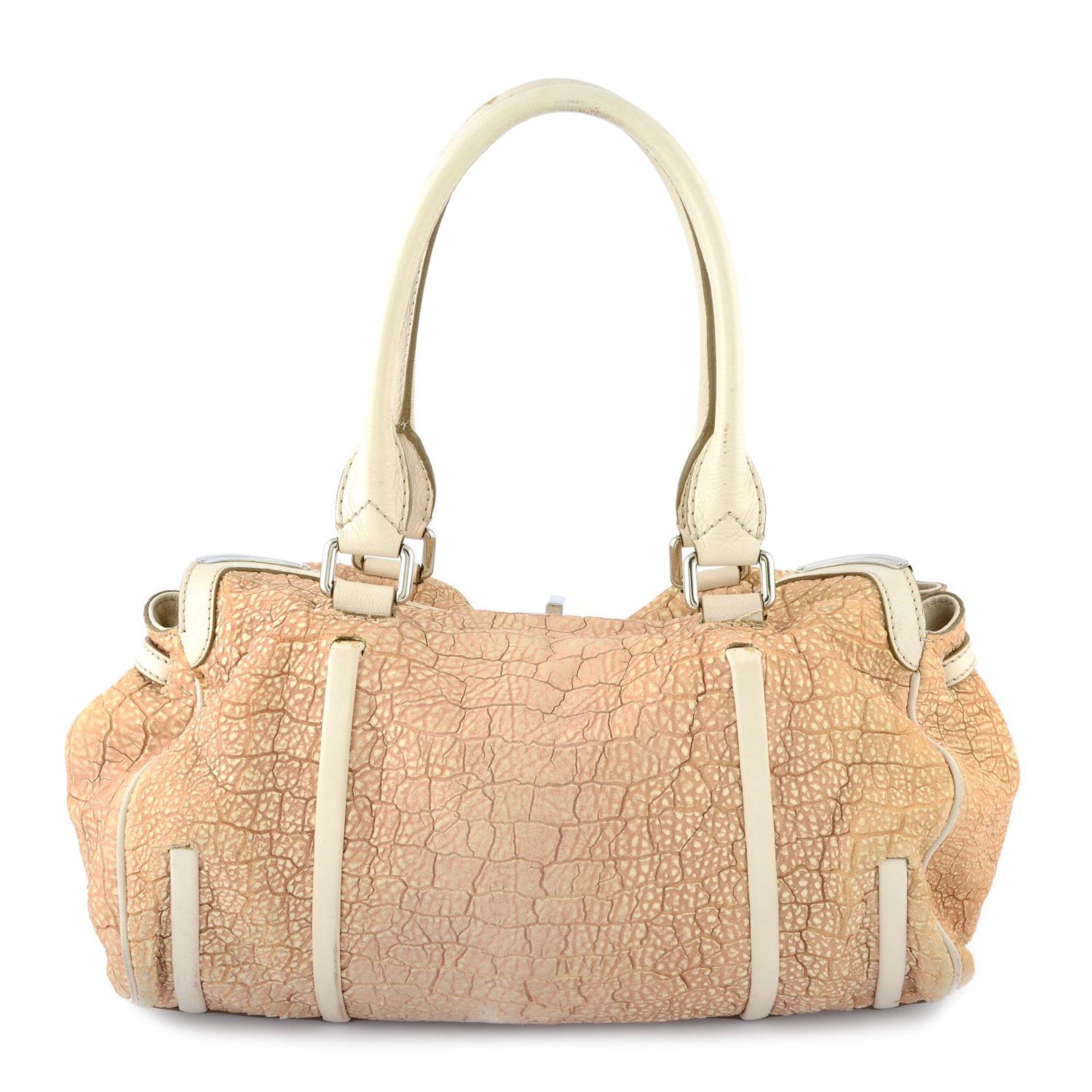CÉLINE - a nude textured leather handbag. - Image 2 of 4