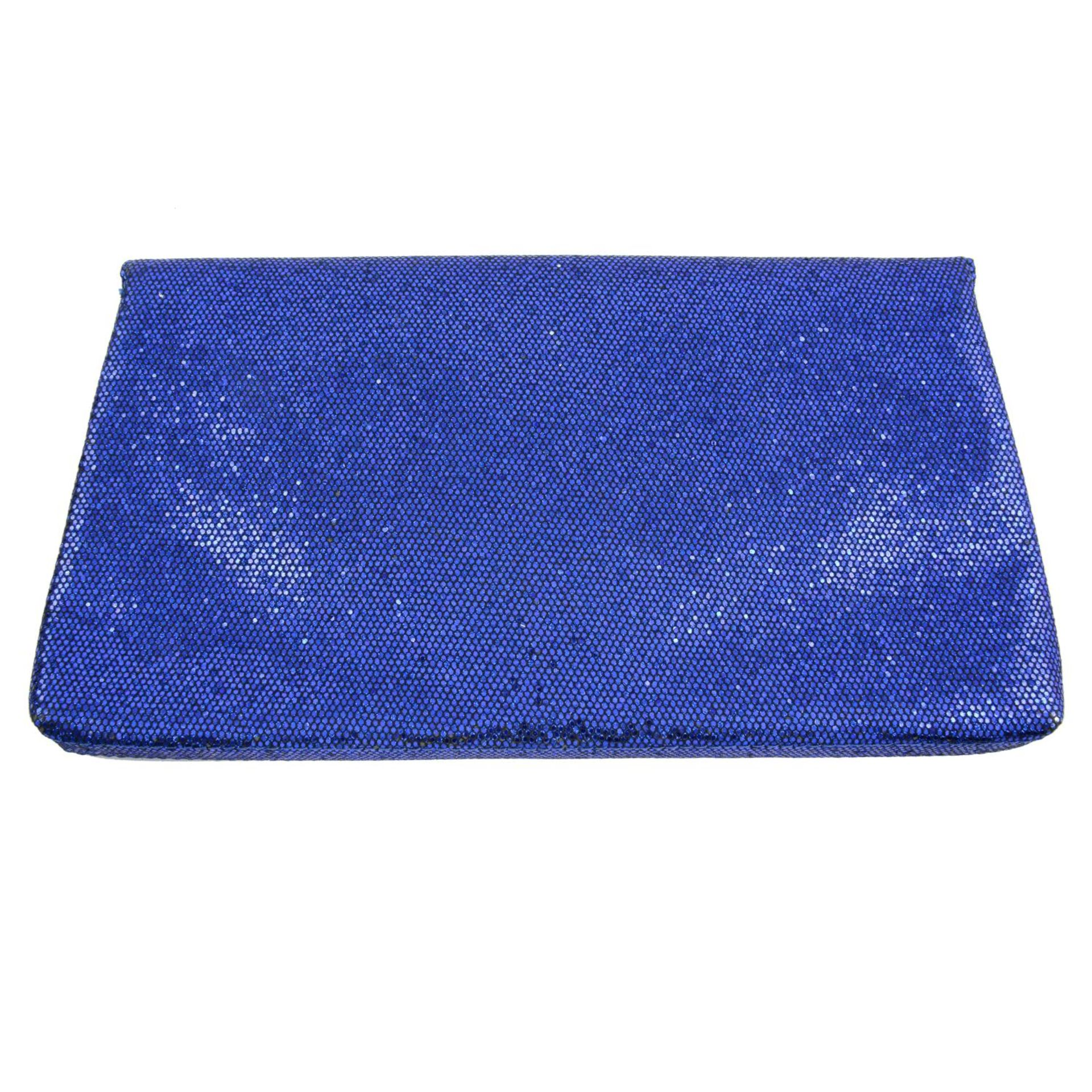 ARMANI EXCHANGE - a blue glitter clutch. - Image 2 of 4