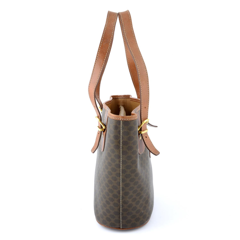 CÉLINE - a Macadam coated canvas handbag. - Image 3 of 5