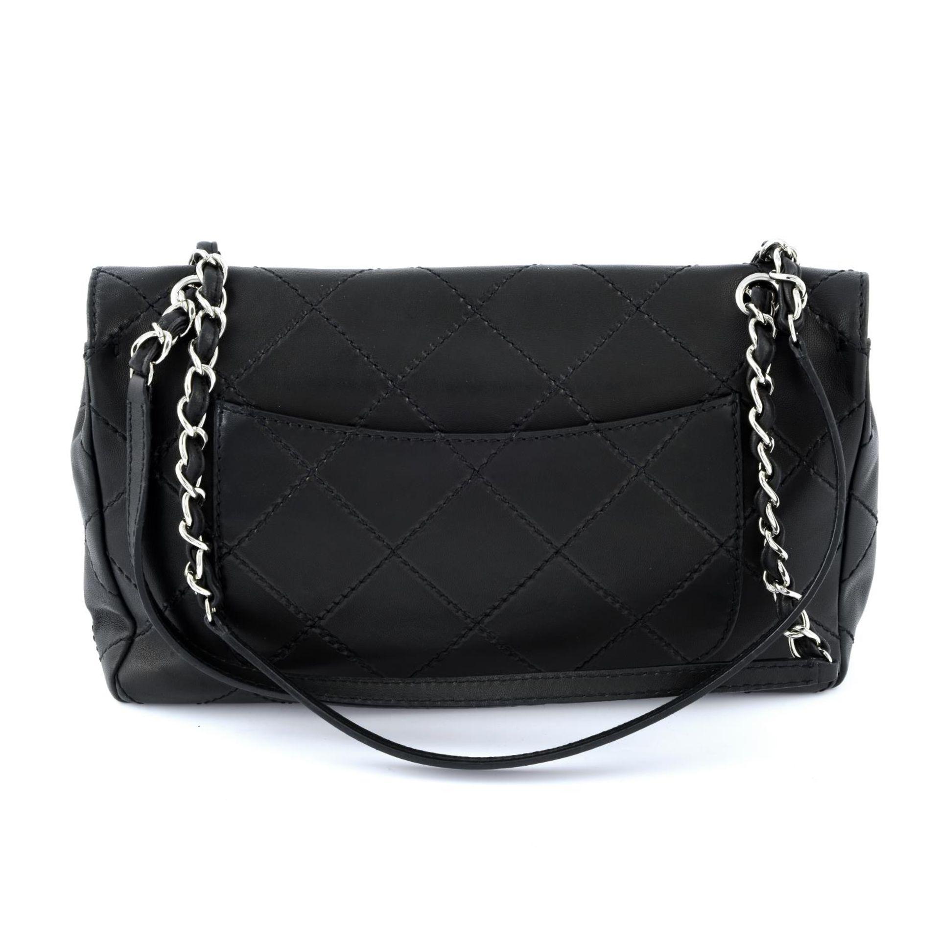 CHANEL - a maxi single flap handbag. - Image 2 of 5