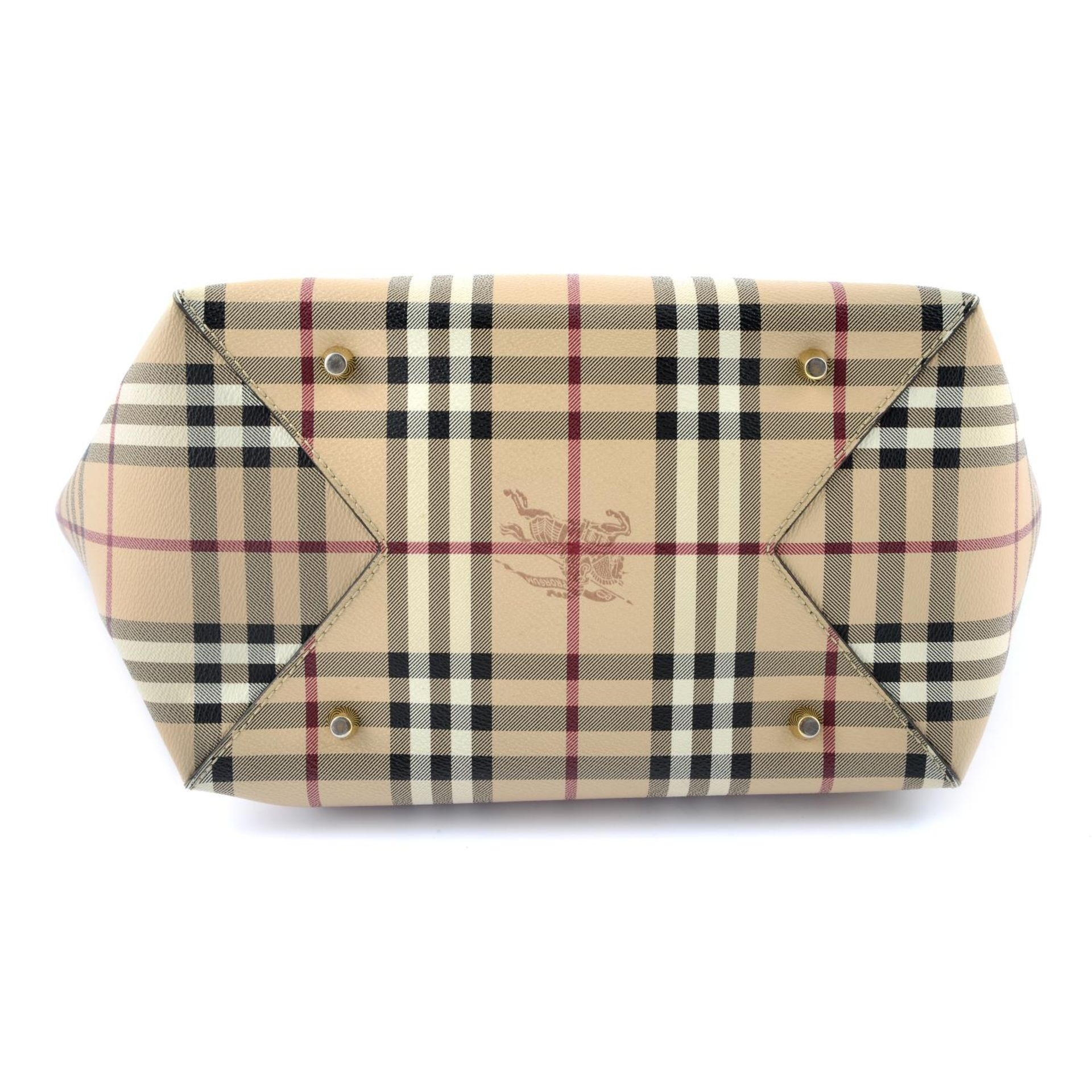 BURBERRY - a Haymarket Check handbag. - Image 4 of 4