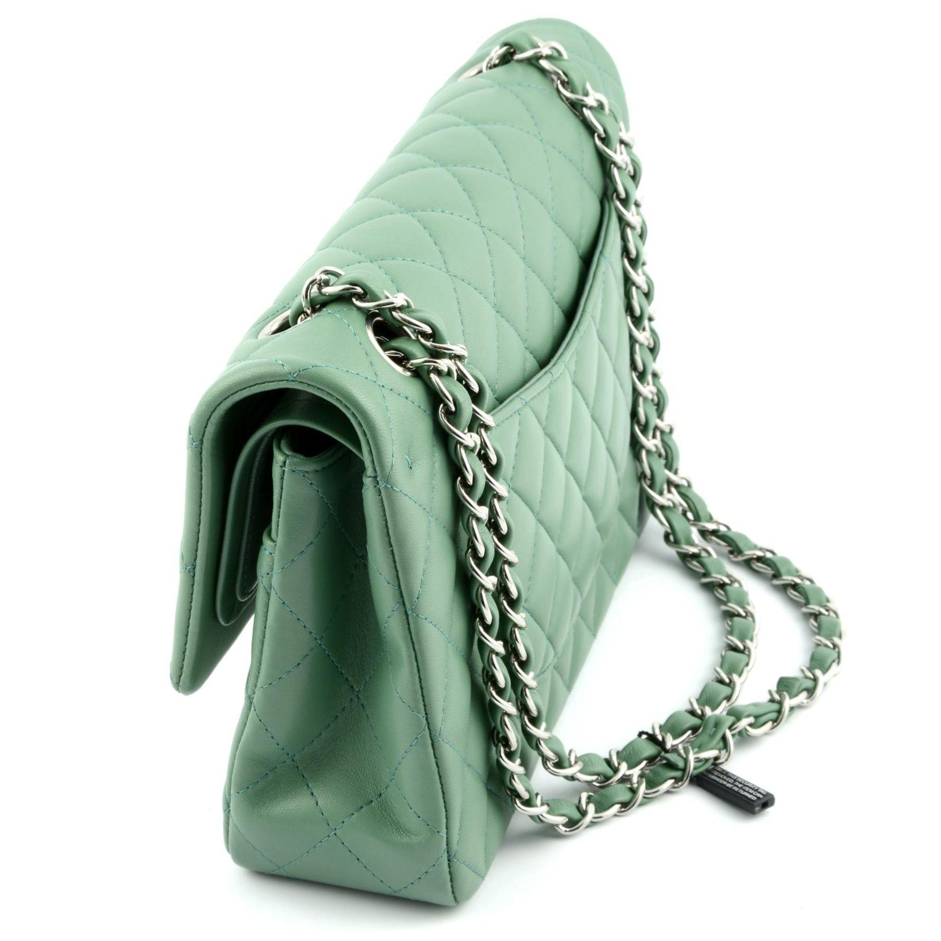 CHANEL - a green medium classic double flap handbag. - Image 3 of 7