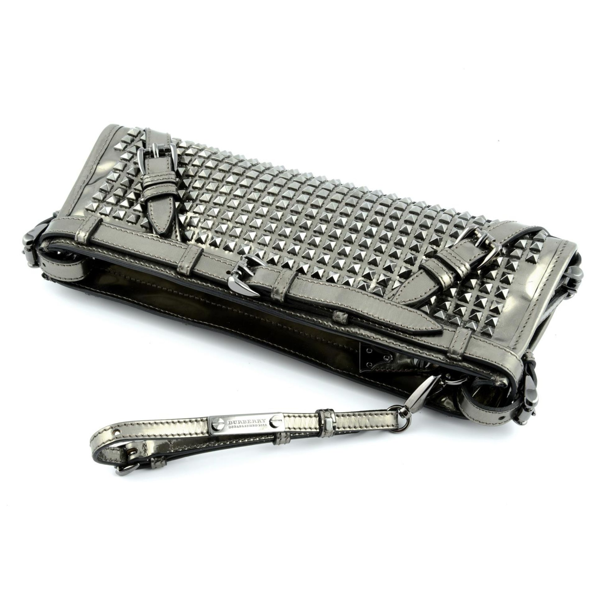 BURBERRY - a Hyde studded clutch. - Image 5 of 5