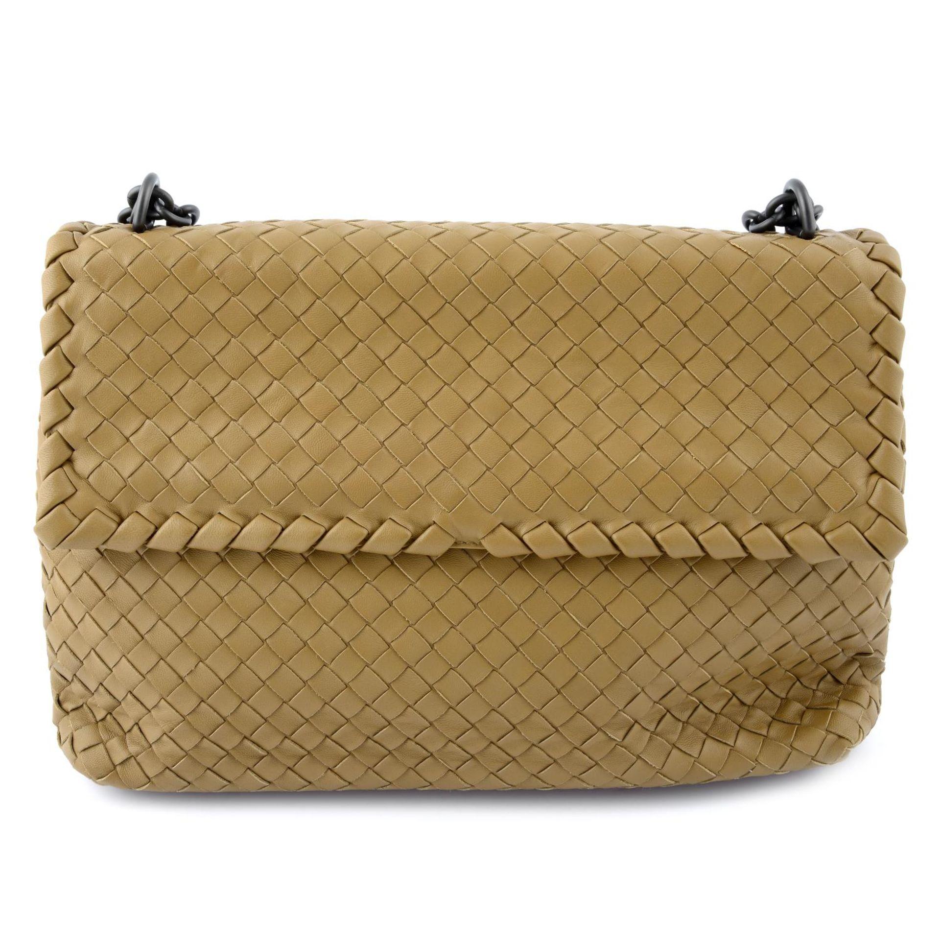 BOTTEGA VENETA - a fold over Intrecciato handbag.