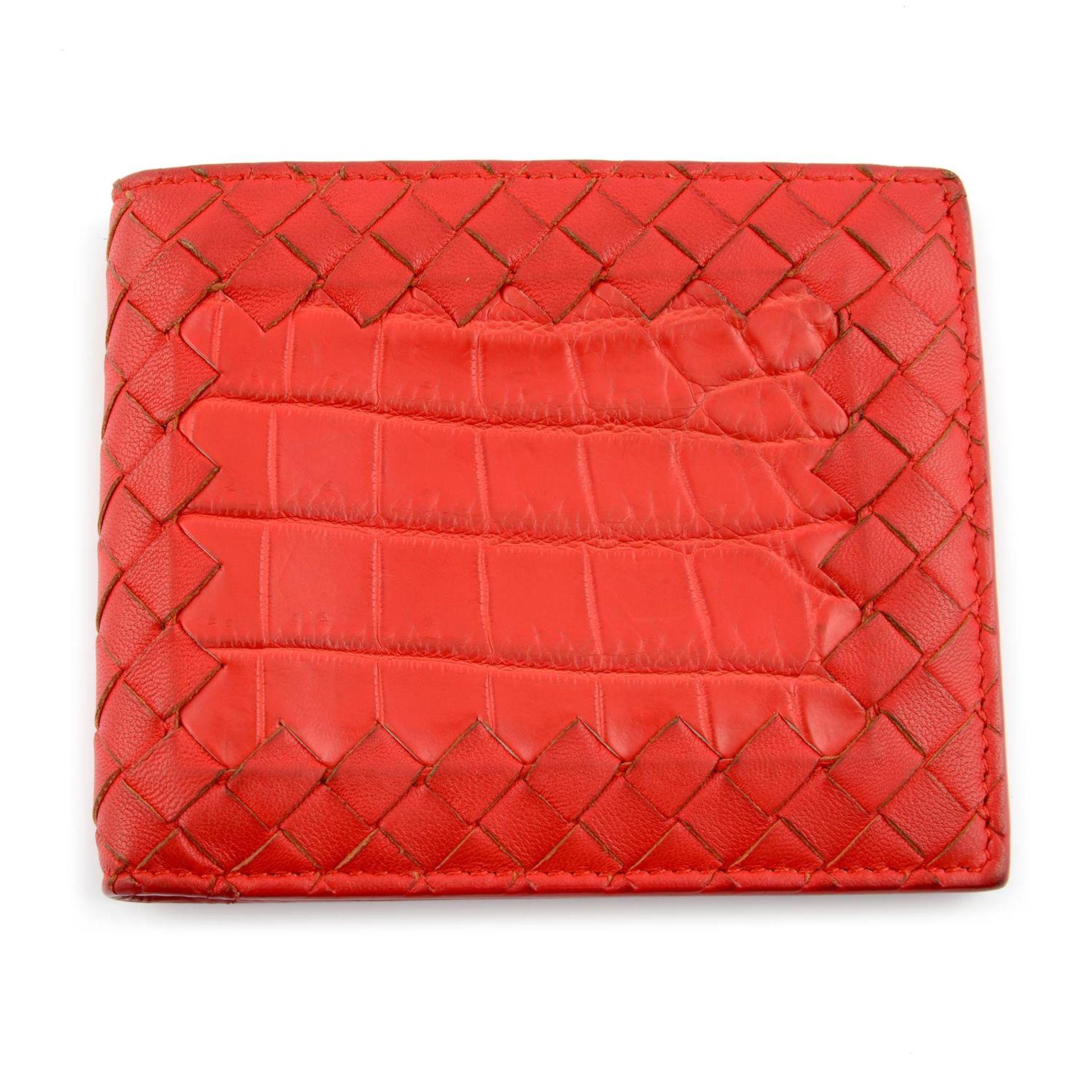 BOTTEGA VENETA - an Intrecciato leather bifold wallet.