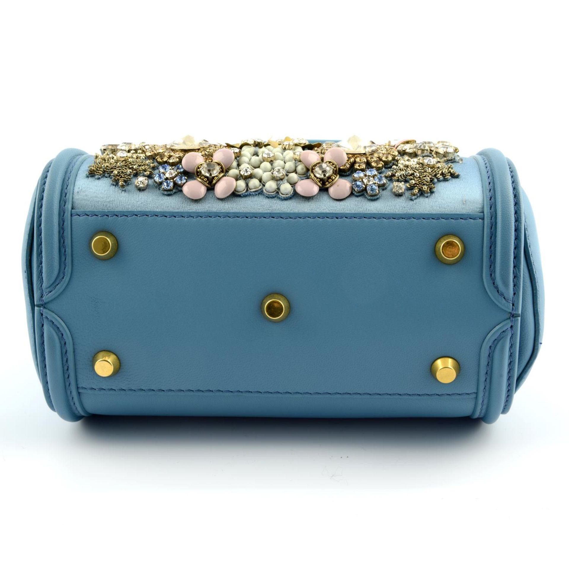 ALEXANDER MCQUEEN - a blue embellished mini Heroine handbag. - Image 5 of 6