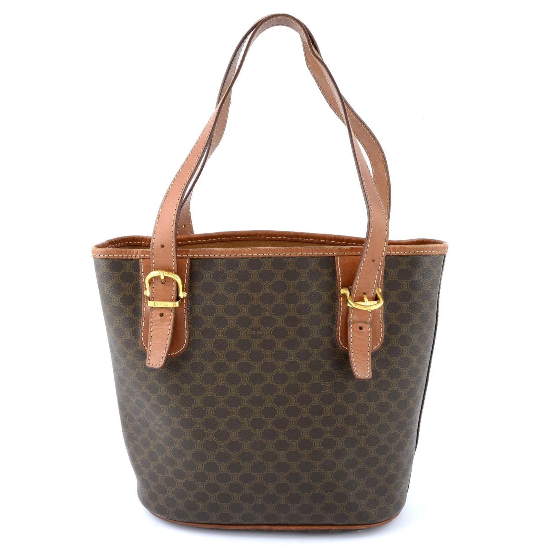 CÉLINE - a Macadam coated canvas handbag. - Image 2 of 5