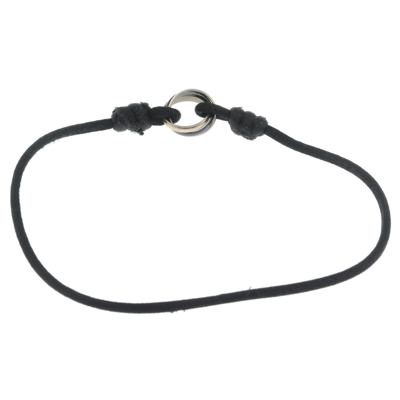 CARTIER - a cord 'Trinity' bracelet. - Image 3 of 3