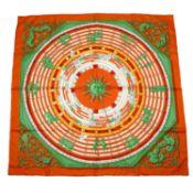HERMÈS - 'Dies et Hore' silk scarf.