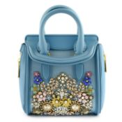 ALEXANDER MCQUEEN - a blue embellished mini Heroine handbag.