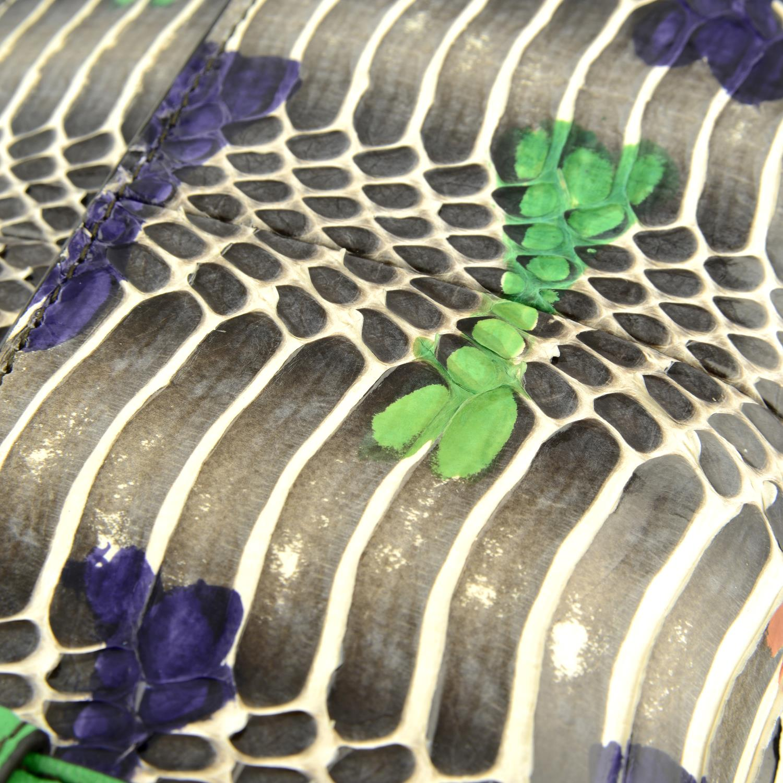 BOTTEGA VENETA - a multicolour Intrecciato leather and python baguette handbag. - Image 6 of 6