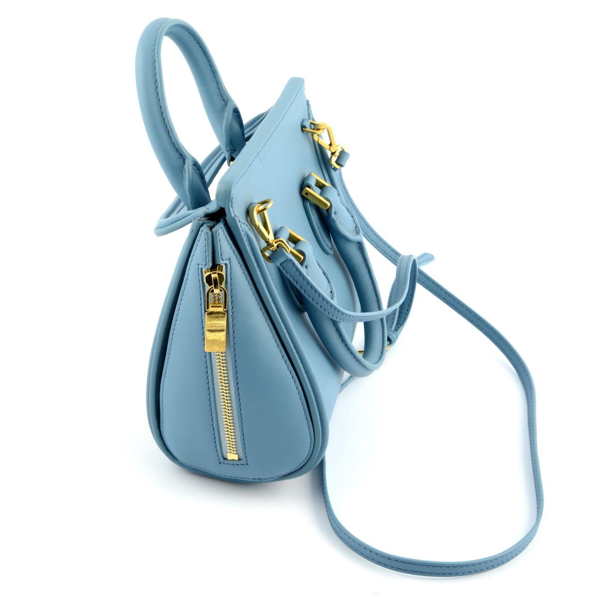 ALEXANDER MCQUEEN - a blue embellished mini Heroine handbag. - Image 3 of 6