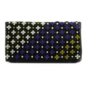 BOTTEGA VENETA - a Nero multicolour embroidered clutch.
