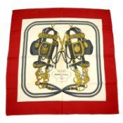 HERMÈS - a 'Brides de Gala' silk scarf.
