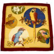 SALVATORE FERRAGAMO - a silk scarf.