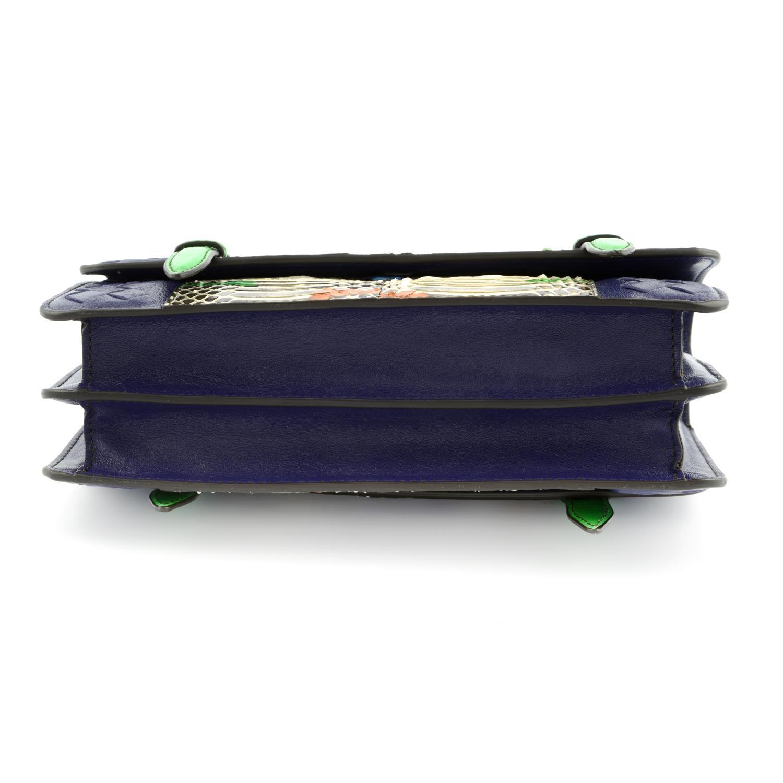 BOTTEGA VENETA - a multicolour Intrecciato leather and python baguette handbag. - Image 5 of 6