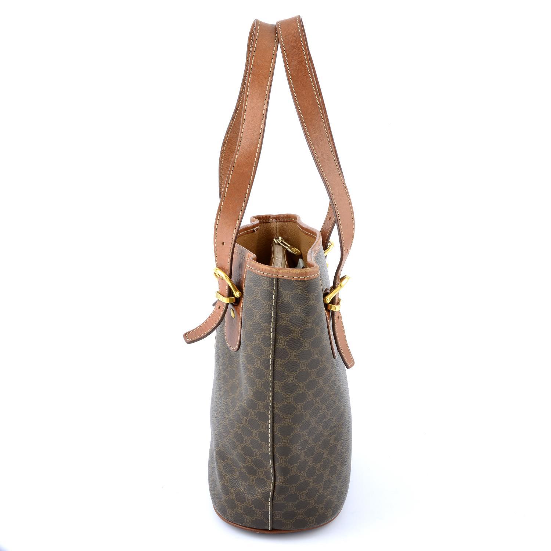 CÉLINE - a Macadam coated canvas handbag. - Image 4 of 5