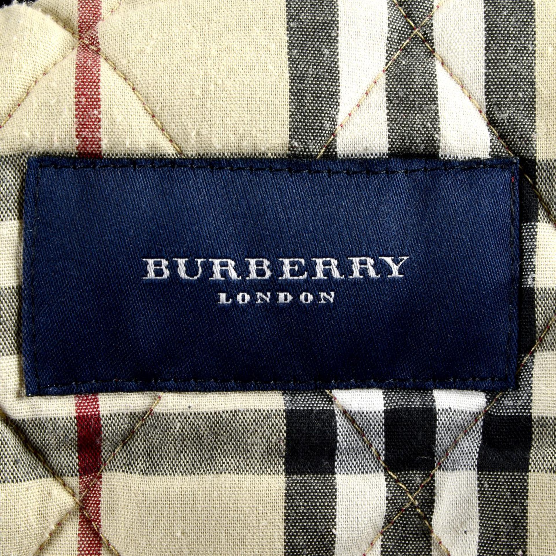 BURBERRY - a red quilted jacket. - Image 4 of 4