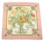 HERMÈS - a 'Regina' silk scarf.