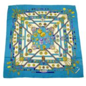 HERMÈS - a 'Petite Main' silk scarf.