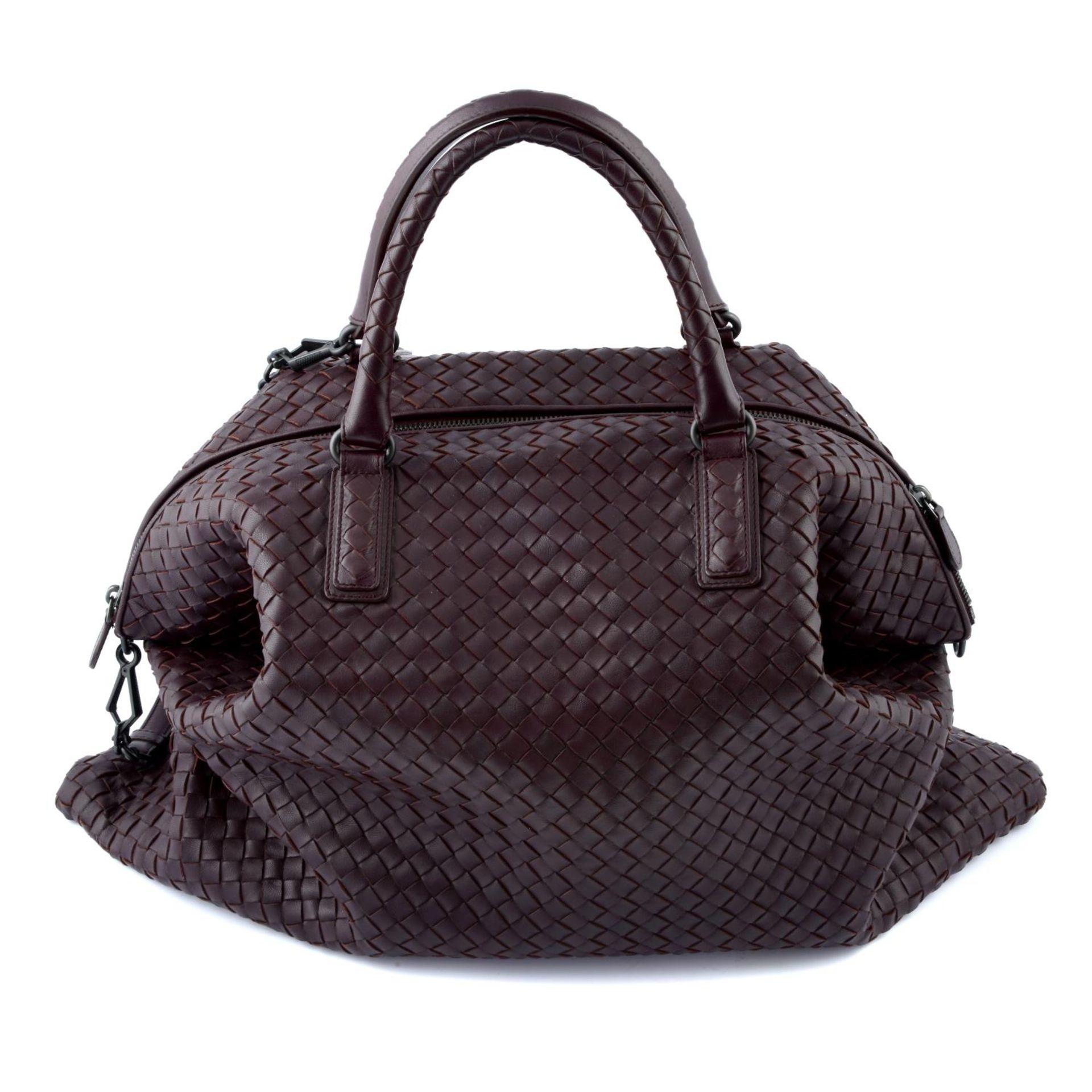 BOTTEGA VENETA - an XL fold over Nappa Intrecciato handbag.